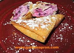 Crepes Parcels Samosas with Cream Cheese