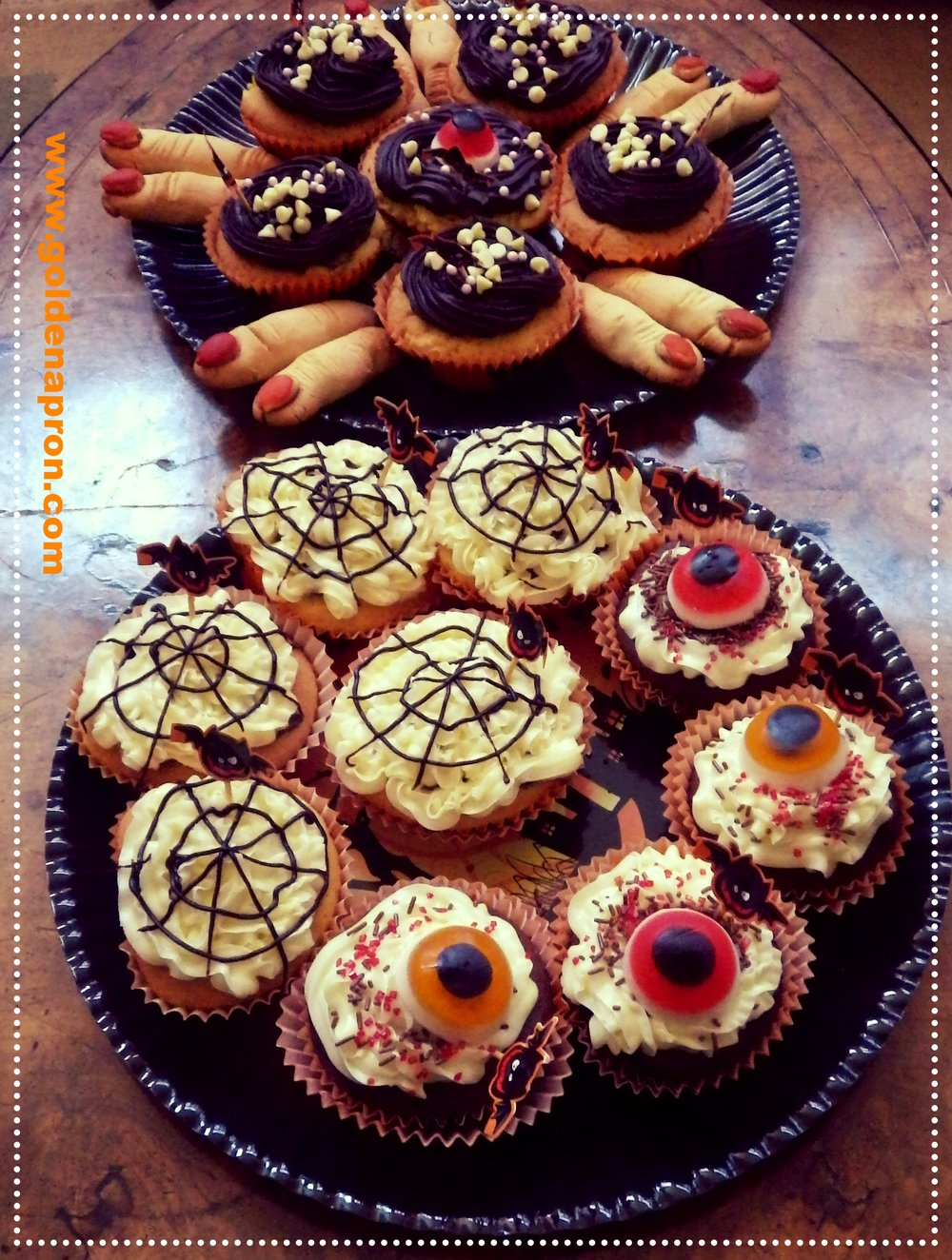 Halloween Recipe Ideas Spiderweb Muffins Eyeballs
