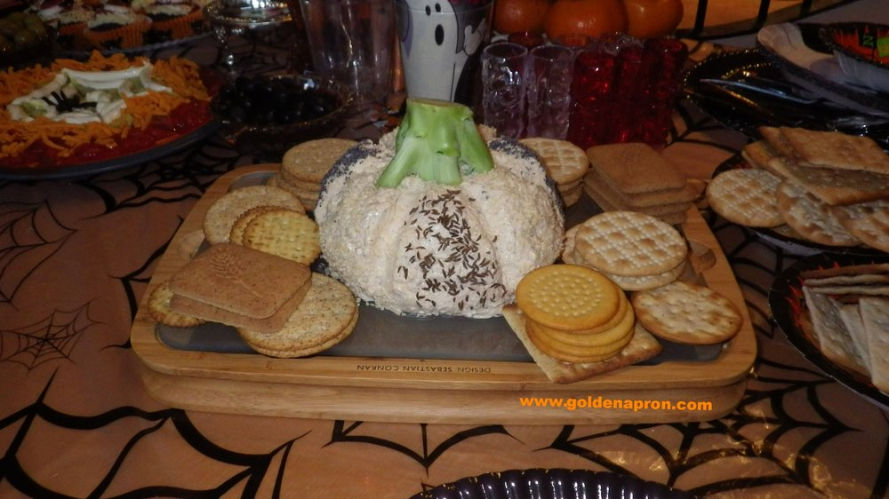 Halloween Recipes Party Ideas Pumpkin Cheese Board
