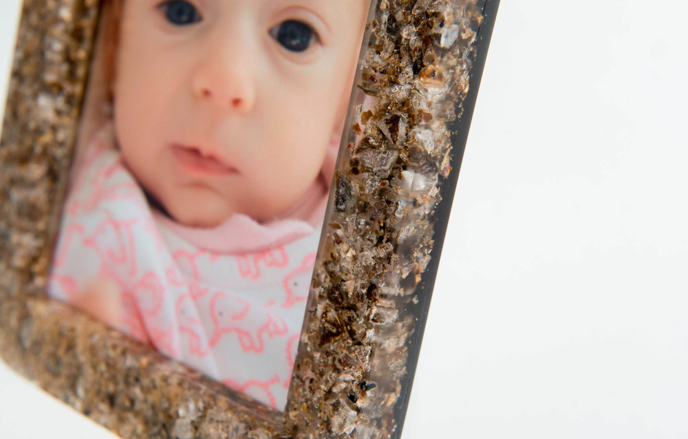 Placenta Photo Frame; Close up