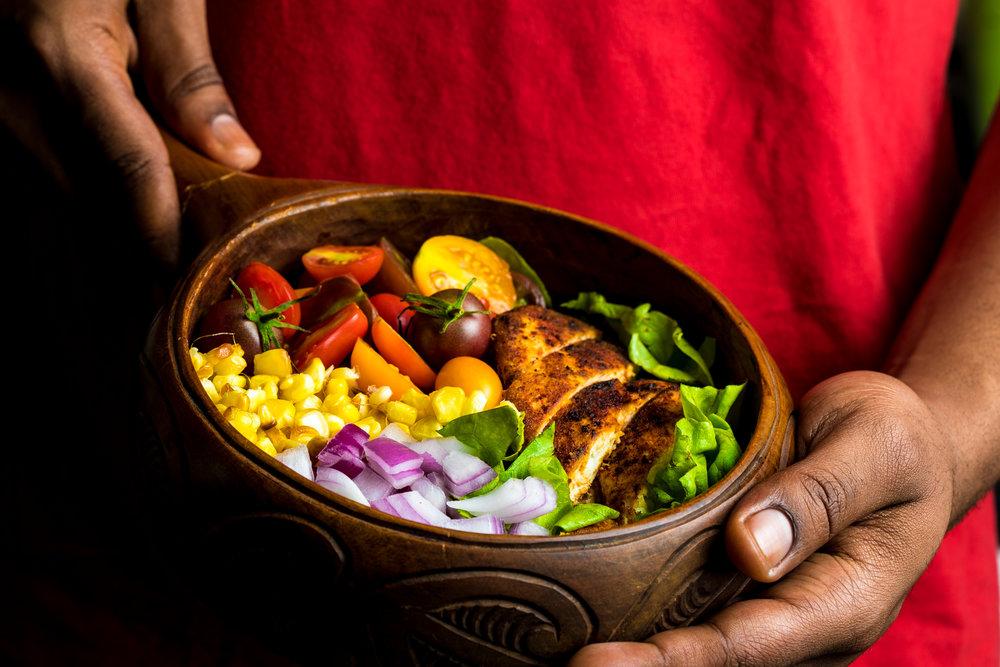 Chopped Chicken Salad with Magic Green Sauce Recipe, Kasim Hardaway