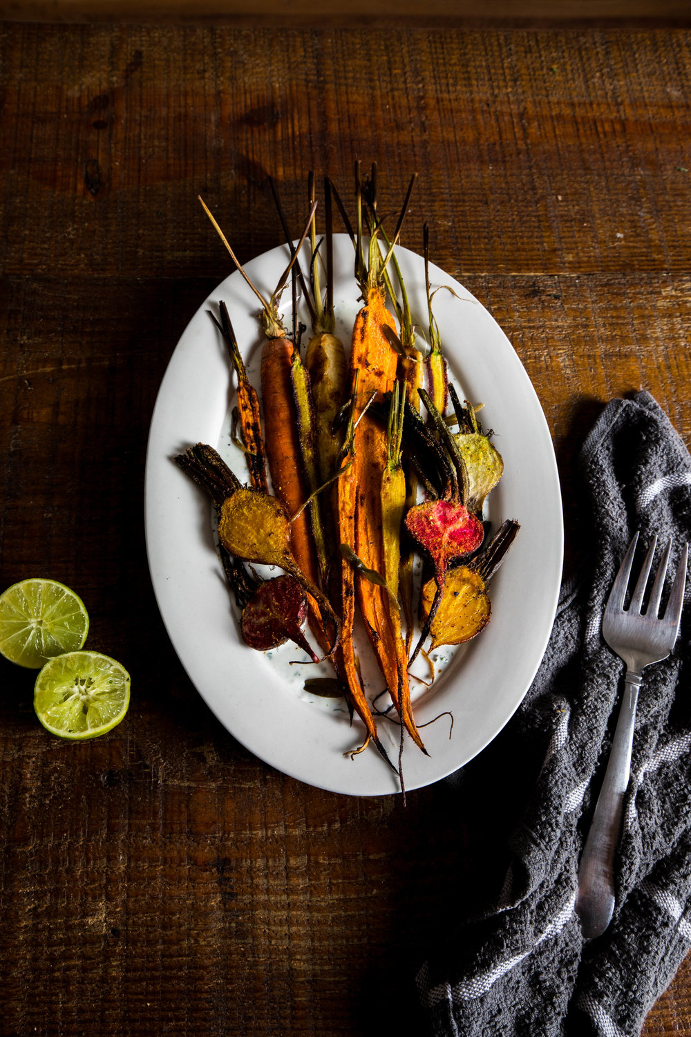 Roasted Root Vegetables and Yogurt Sauce Recipe with Harvesters Community Food Network