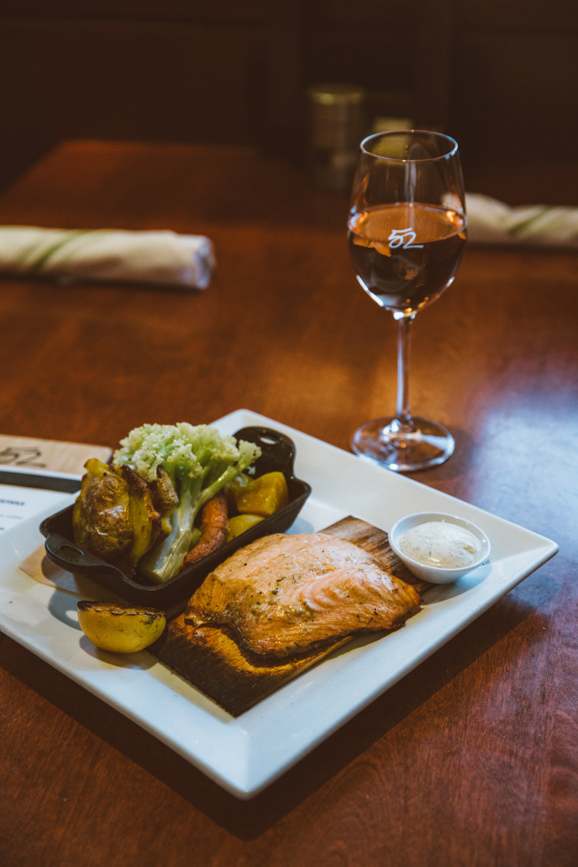 Seasons 52 - Cedar Plank Roasted Salmon, Seattle Fish Company