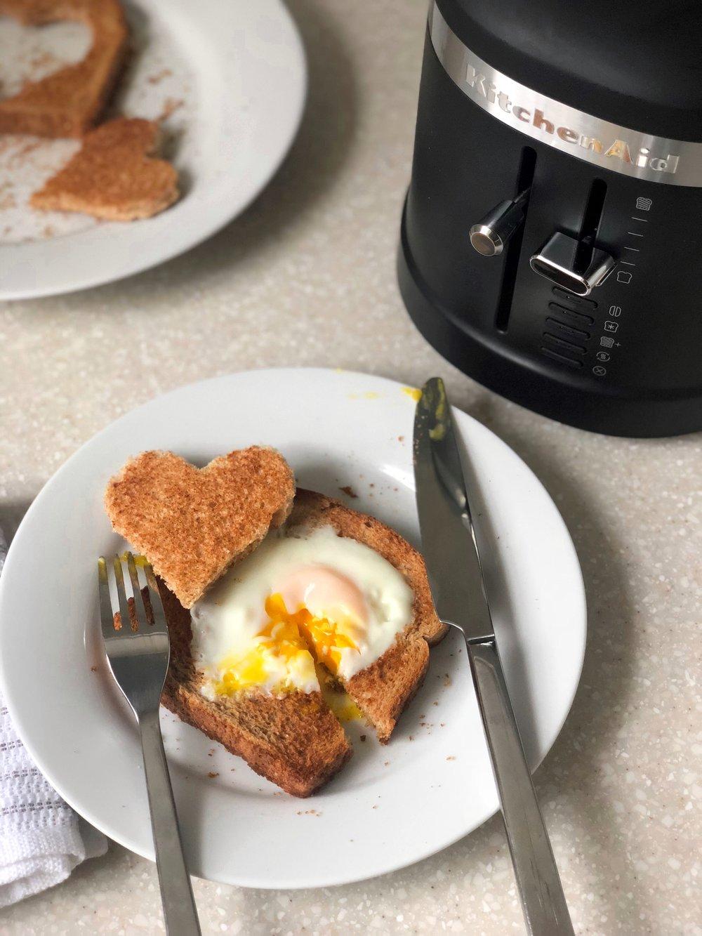 Wake up with Nebraska Furniture Mart, Egg in a Heart Recipe
