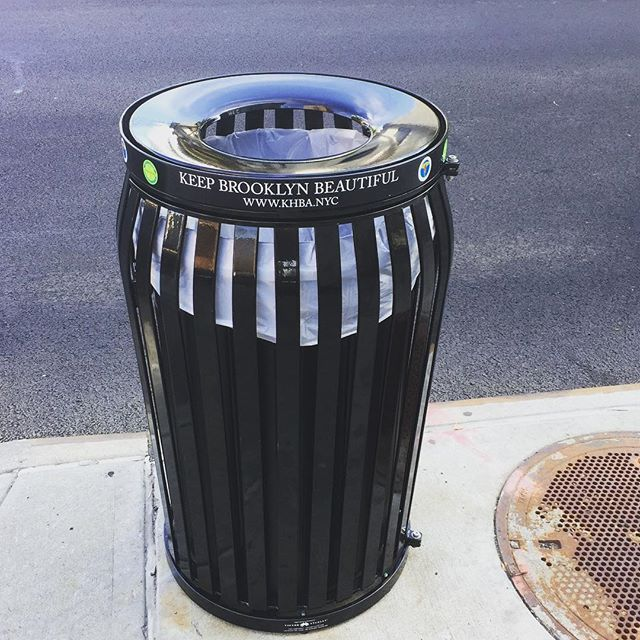 Our new high-end litter baskets have arrived on Avenue U! Distributed along east 1st-east 5th street. Check it out!