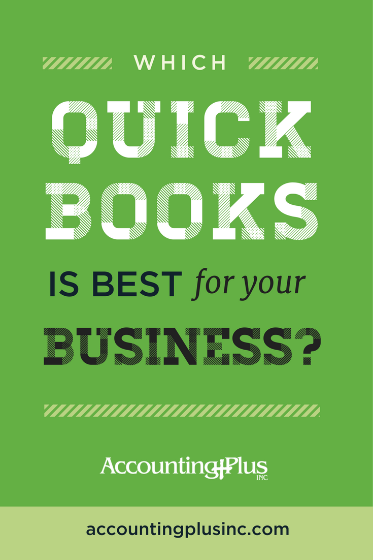 QuickBooks is a GREAT tool for small business owners to get their bookkeeping and accounting under control. There are so many different options though, like QuickBooks Online and QuickBooks Desktop, that it can be hard to figure out which one is best for you. Here's how! | Accounting Plus, Inc.