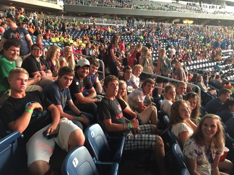 In the summer of 2016 we went to the ELCA Youth Gathering in Detroit, MI.