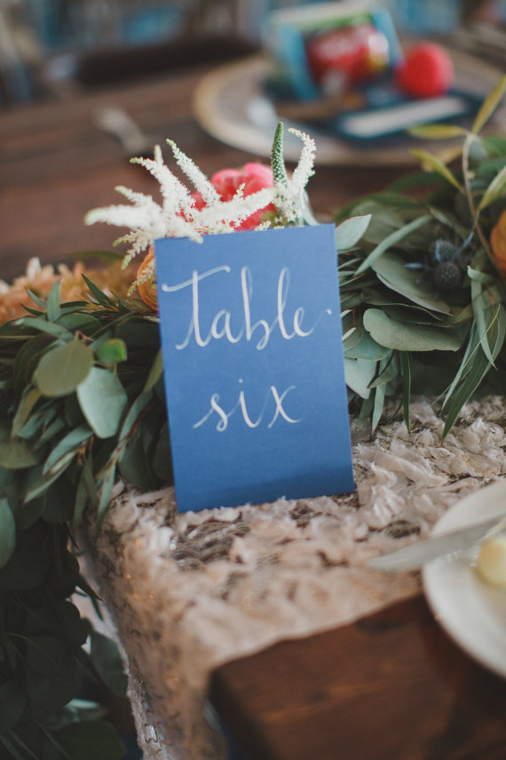 table  numbers calligraphy