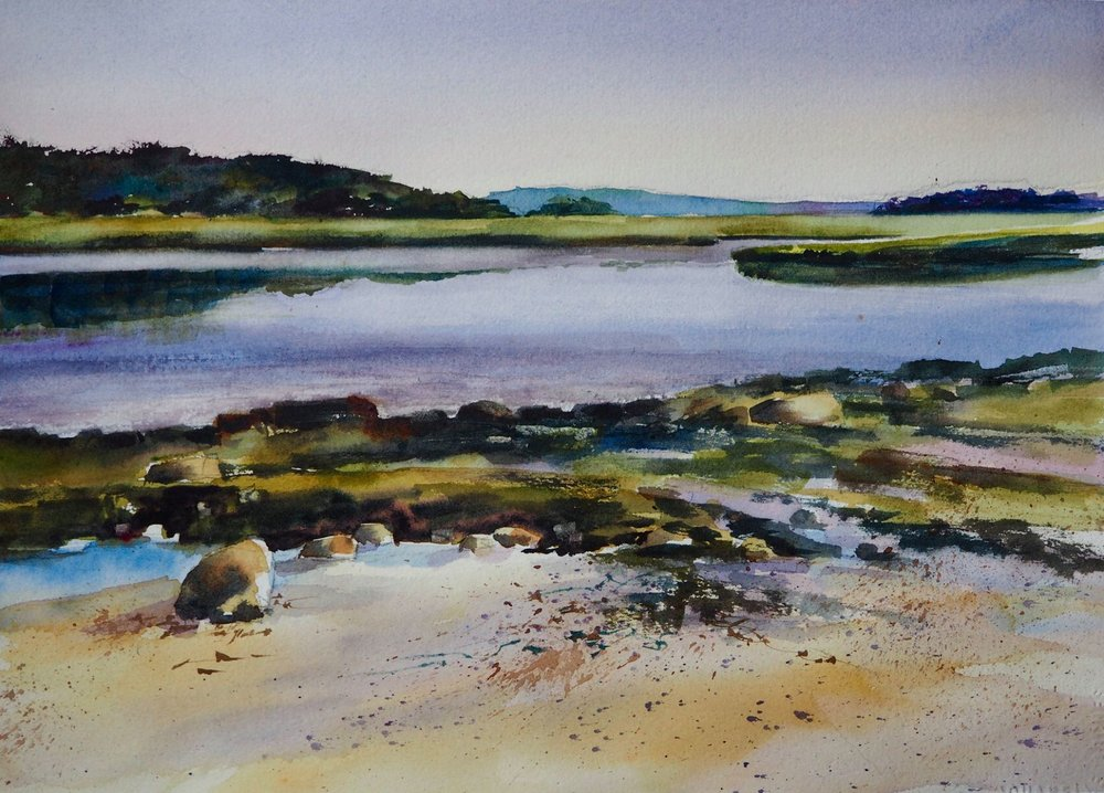 """Low Tide, Essex"" Watercolor 16"" x 20"" matted $250"
