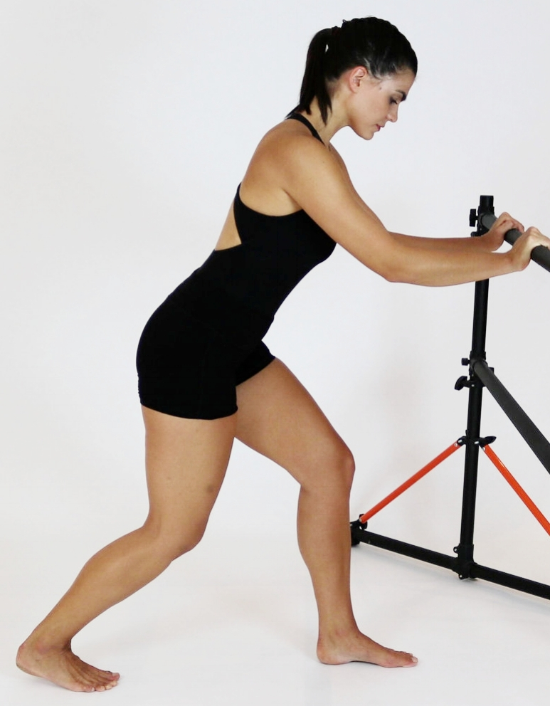 Soleus Stretch - Keep back leg a little bent to get the deeper