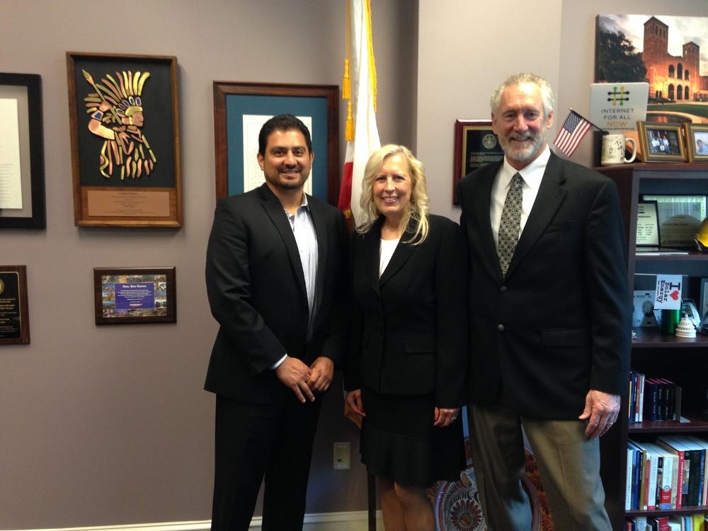 Senator Ben Hueso, Jenelle Miller, John Miller