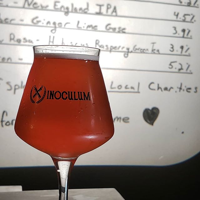 Oh, we tapped another new beer a couple days ago. Mallow Rosa is an American sour ale aged on hibiscus, raspberries, and green tea. We're killing with keeping new beers on fyi, we're tapping 2-3 new small batch beers a week right now. Come thru.