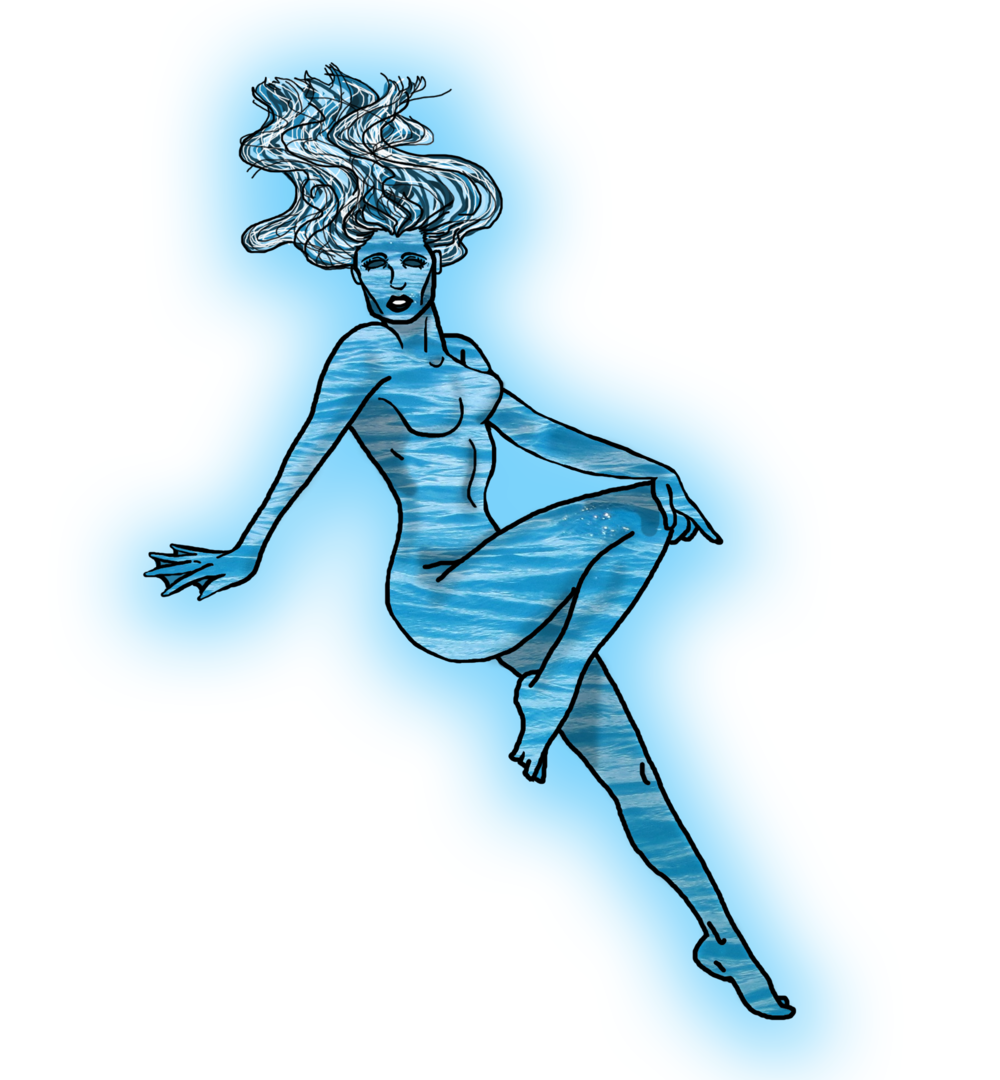 Coro, the goddess of the seas and storms.