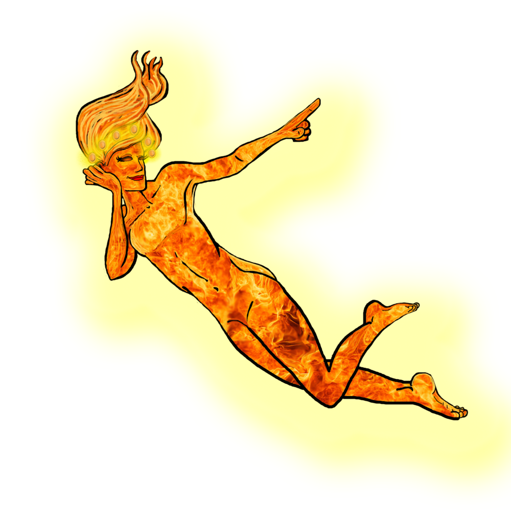 Rae the goddess of fire and the sun.