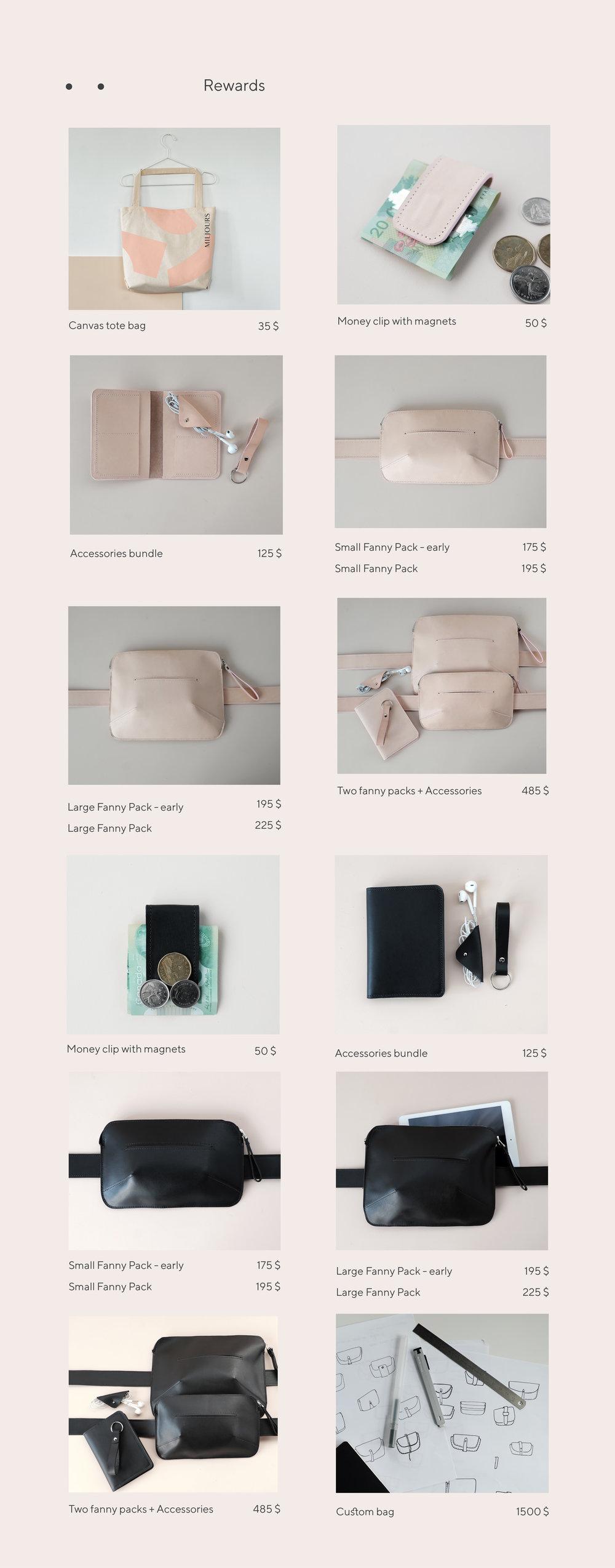 Miljours - Kickstarter - rewards - leathergoods.jpg