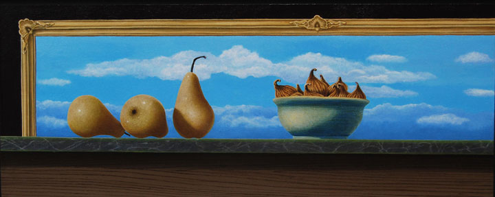 Happenstance in the Studio • Oil on Canvas • 13.5 x 33.5""