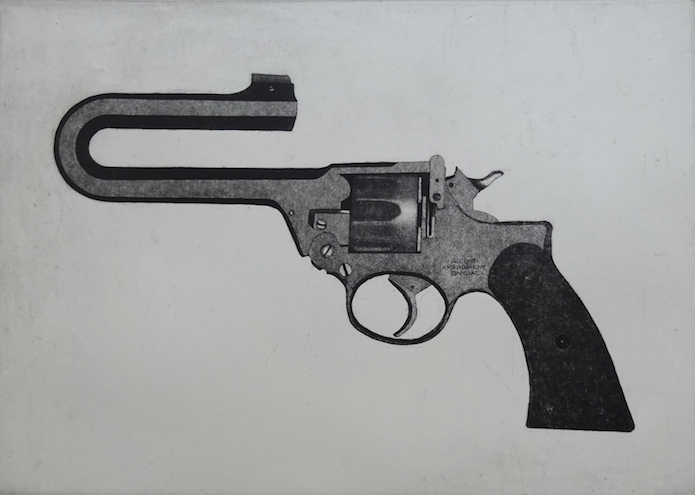 """Second Amendment Special, etching/aquatint, 10""""x14"""""""