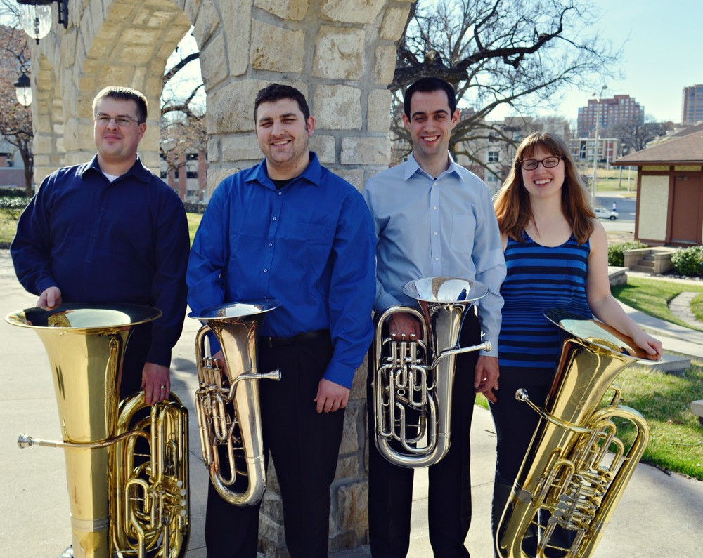 Jeff Barbee & Aaron Meacham, euphoniums   George Palton, contrabass tuba