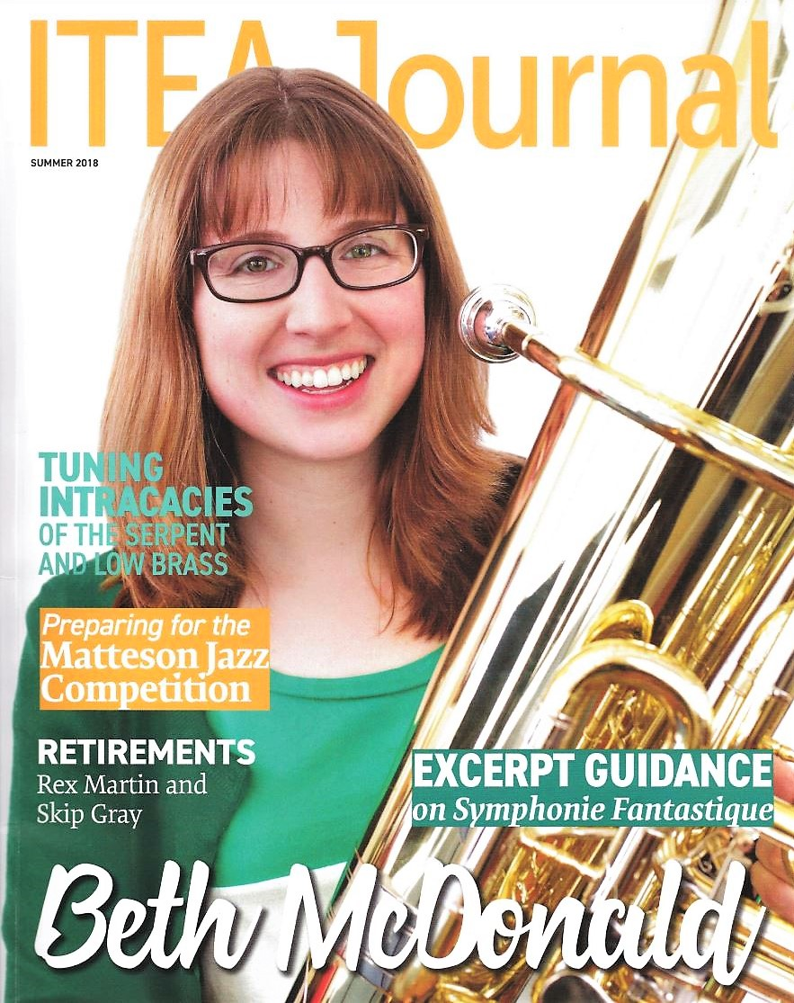 Did NOT expect to see my face on the cover… Click to see the full article, an interview led by the wonderful tubist and experimental musician Aaron Hynds!