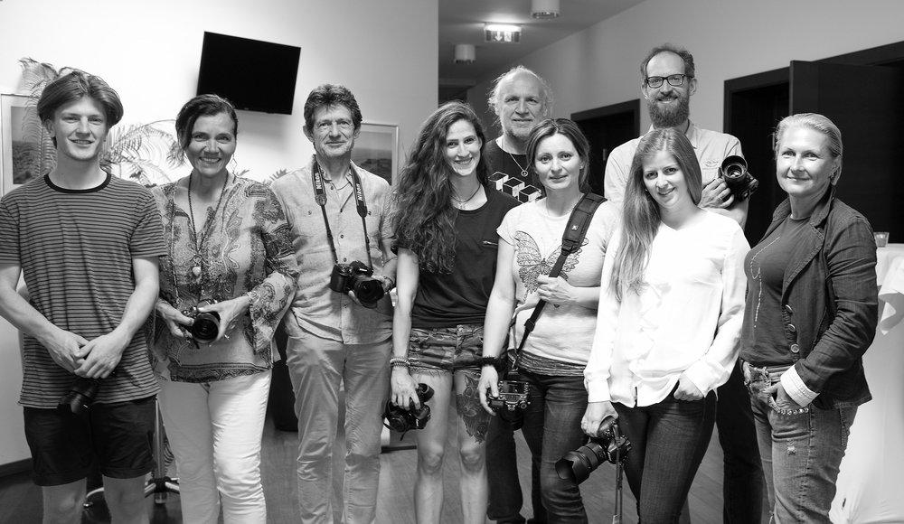 Teilnehmerinnen der LIK Sommerakademie Kärnten 2016/17 mit Akademie Leiterin Nadja Gusenbauer