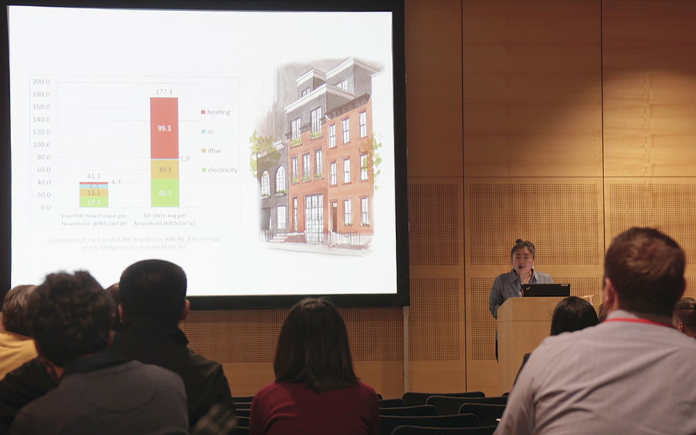 In Cho presenting at the Vienna International Passive House Conference.