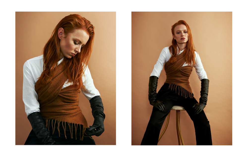 Model: Daisy @ D1 Models Photographer: Courtney Hugh Campbell Makeup: Sarah Shaw Styling: Jonathan Jepsen