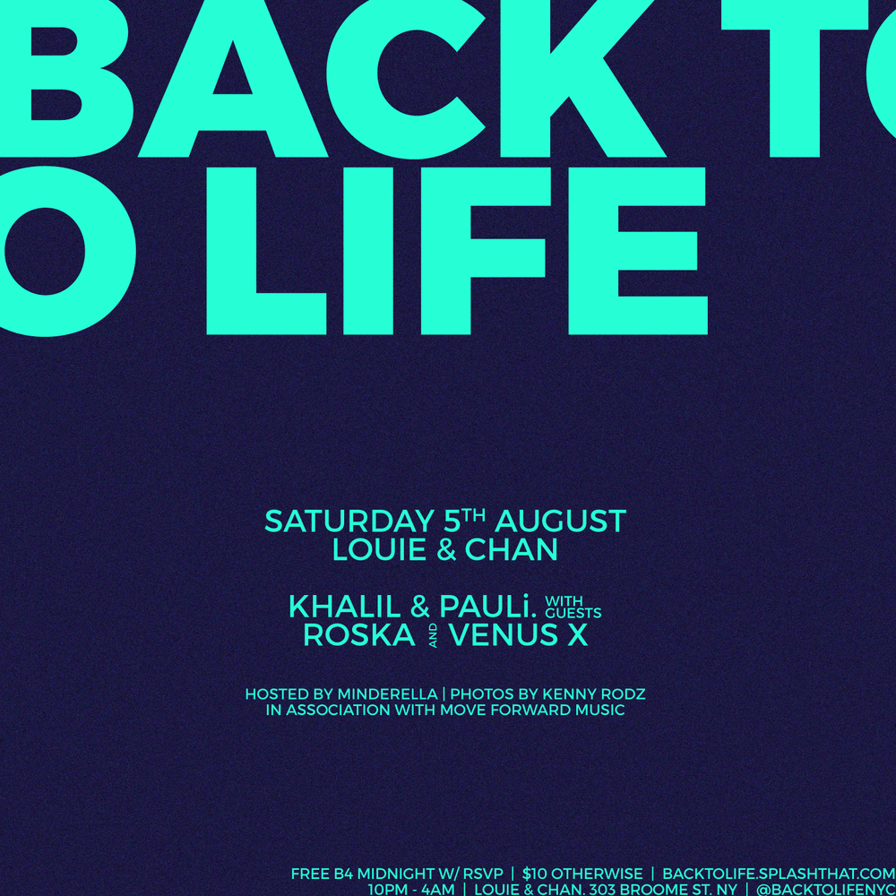 Back To Life with Roska & Venus X — Back To Life NYC