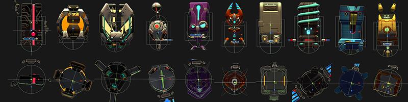 Bot colliders in Blade Ballet.