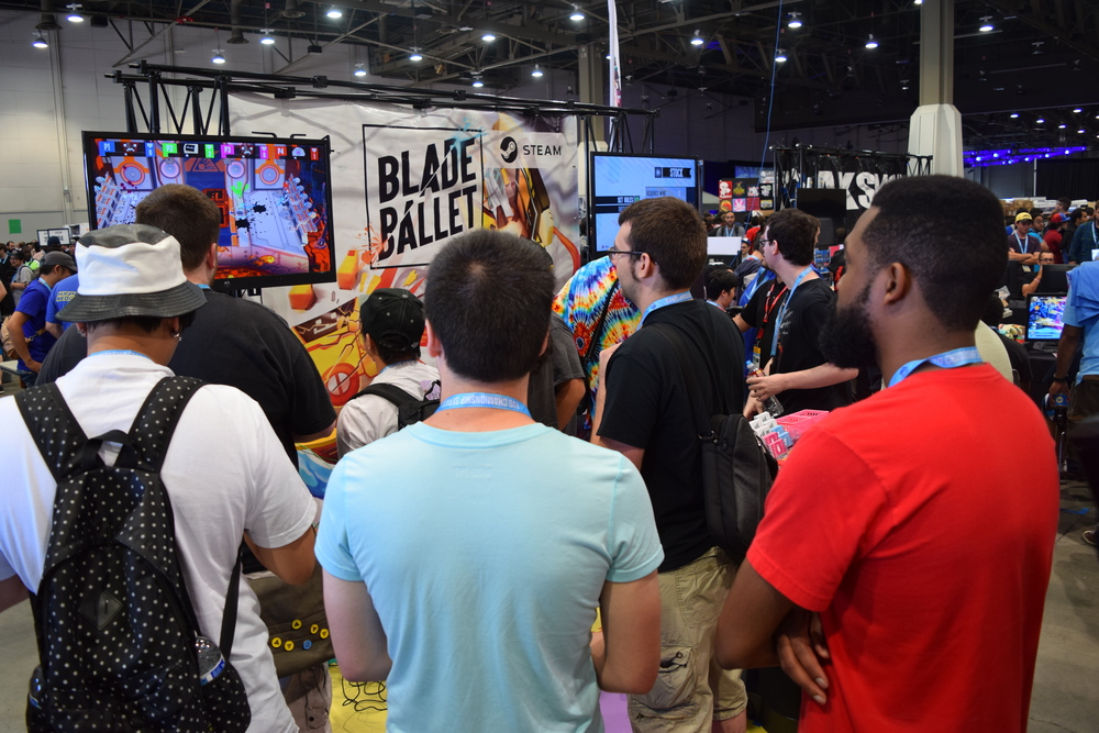 Blade Ballet at Evo! Gather 'round boys and girls, for a game of whirling robot destruction.