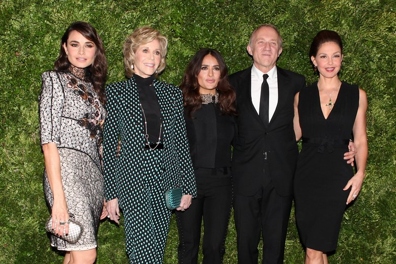 Jane Fonda, Ashley Judd, Salma Hayek, and François-Henri Pinault by Aria Isadora