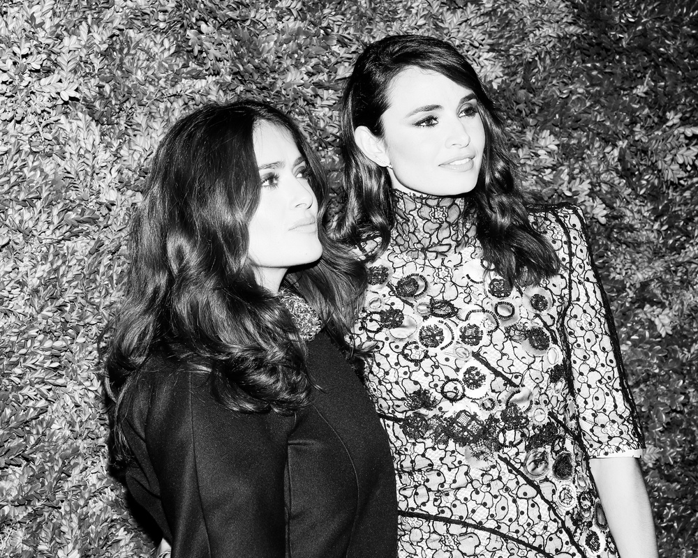 Salma Hayek and Mia Maestro by Aria Isadora