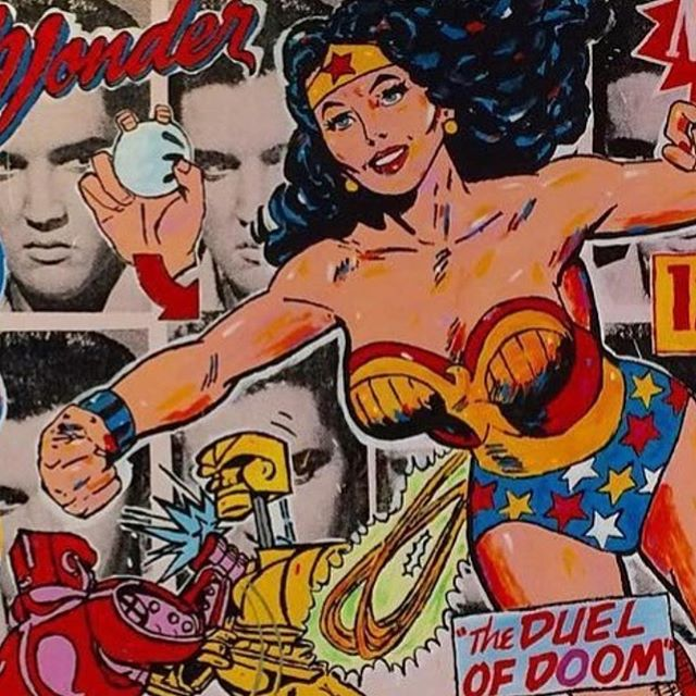 Hope you have a WONDERful weekend #wonderwoman #stango #johnstango #popart #art #silkscreen #rockemsockemrobots #urbanart #painting #elvis #superheroes #girlpower #artsy #artnet