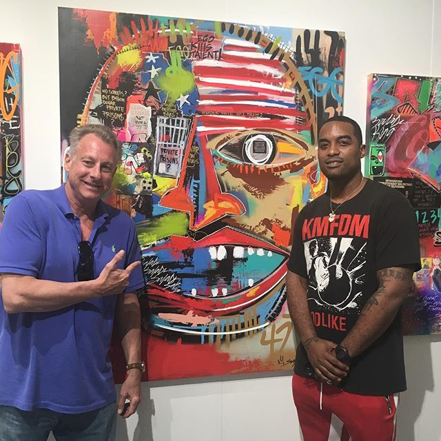 Hangin' out @scopeartshow with my fellow Philly homeboy @kingsaladeen If you're in Miami be sure to check out his work booth E29  xxx Collabs coming up in 2018 #stango #johnstango #popart #urbanart #philly #215 #saladeen #contemporaryart #artbasel #miami #scope #tylerschoolofart #artsy #artnet