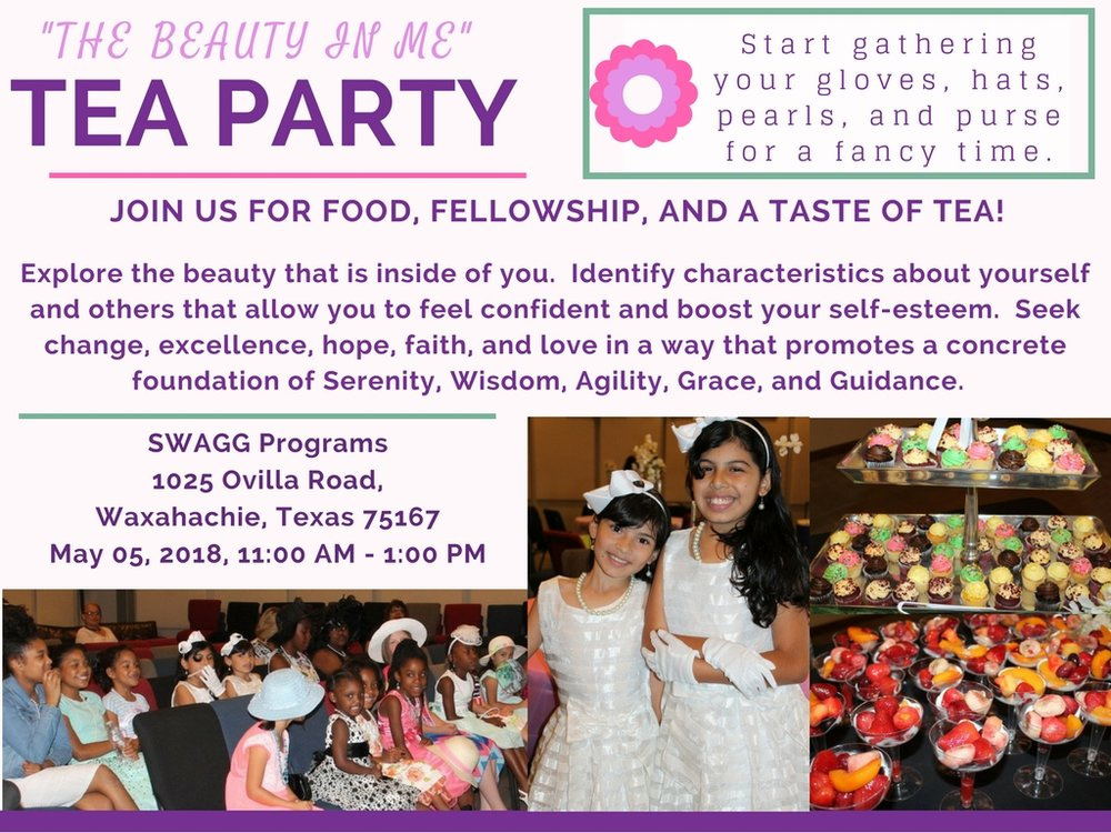 the beauty in me annual tea party swagg programs