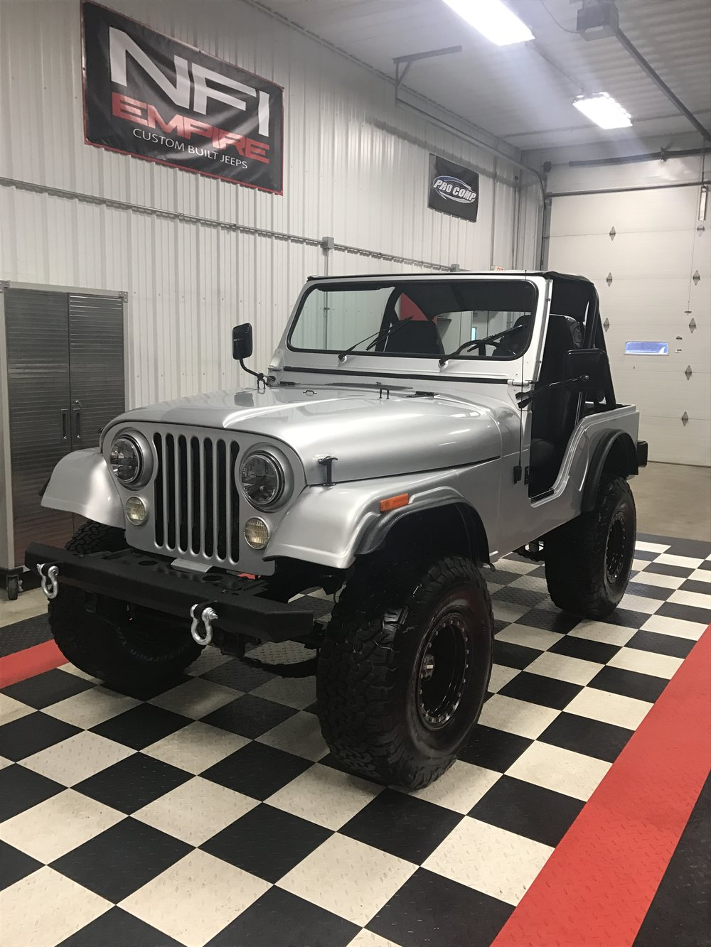 1980 SILVER CJ - CLICK TO THE VIEW THE RESTORATION PROCESS