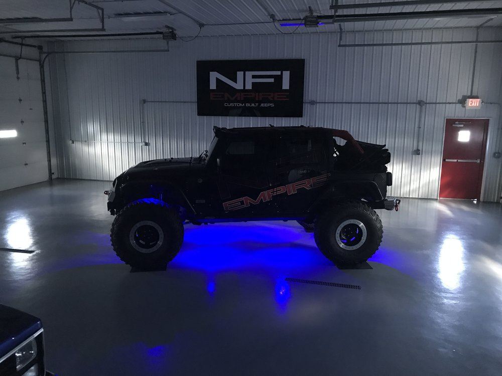 Underglow on a Jeep