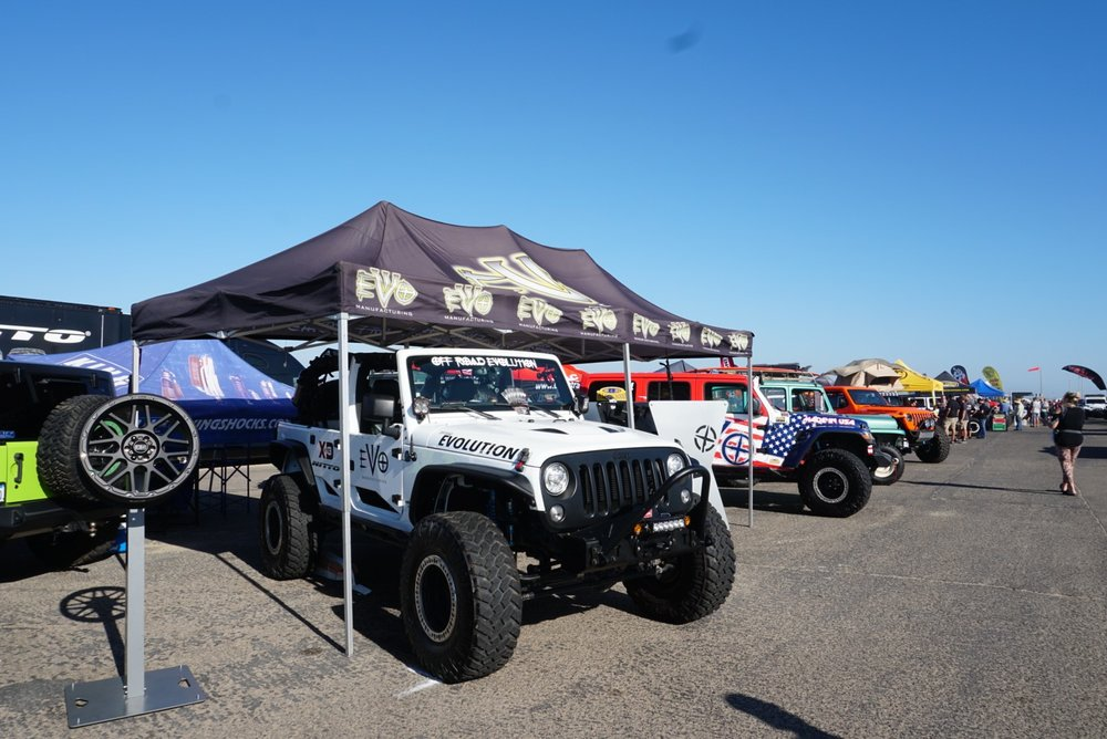 EVO MFG Booth at the Jeep Bash 2018