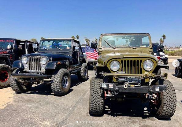 Cool Jeep CJs displayed