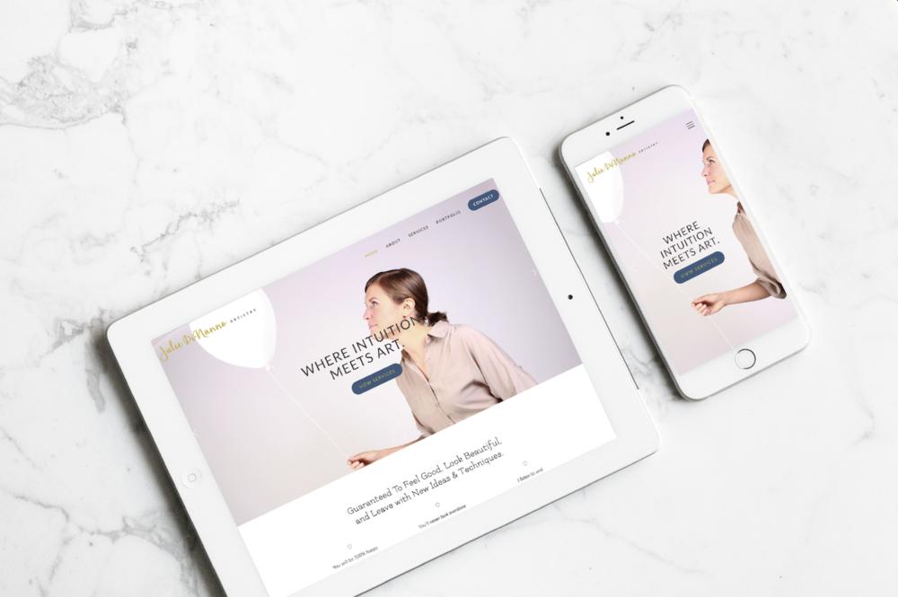Julie DiNanno Artistry · Brand + Web Design