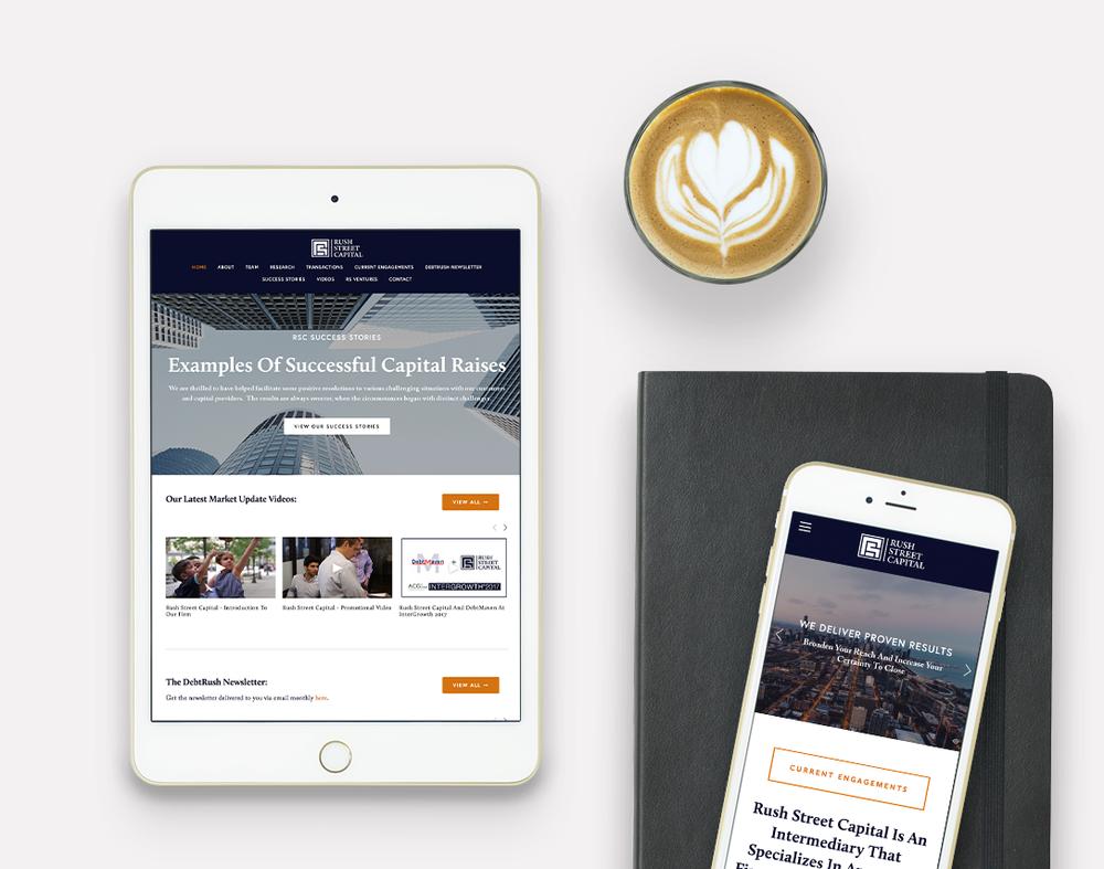Rush Street Capital · Print + Web Design