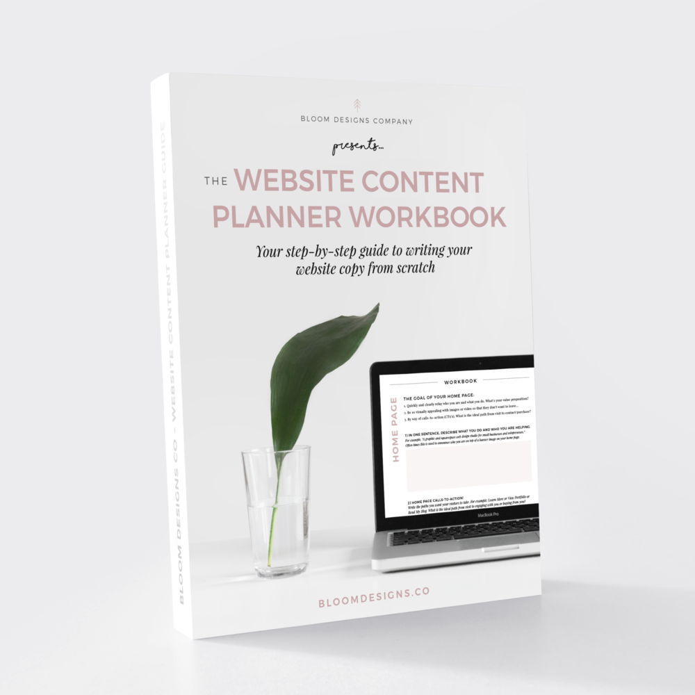 Website Content Planner Workbook - Writing your website copy from scratch? Ease your overwhelm with this step-by-step guide.