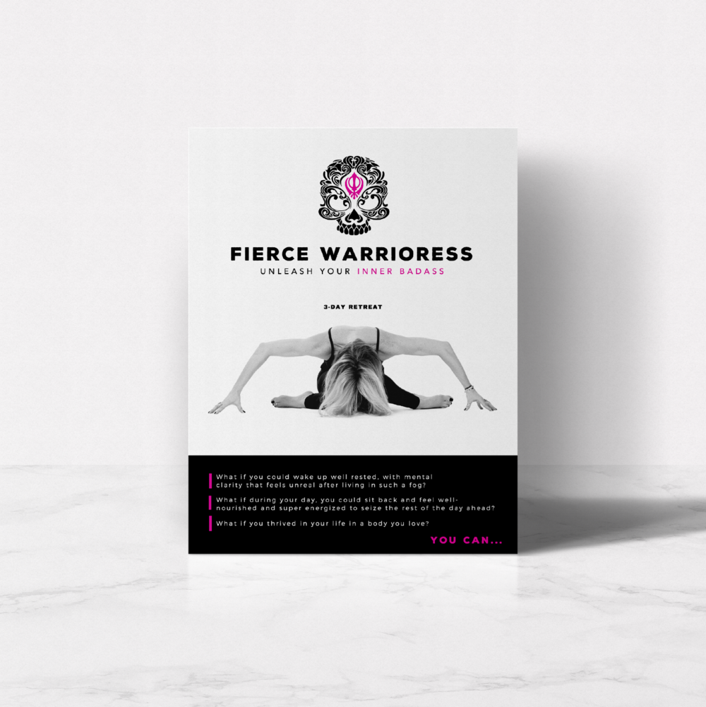 Fierce Warrioress · Brand, Digital + Print Design