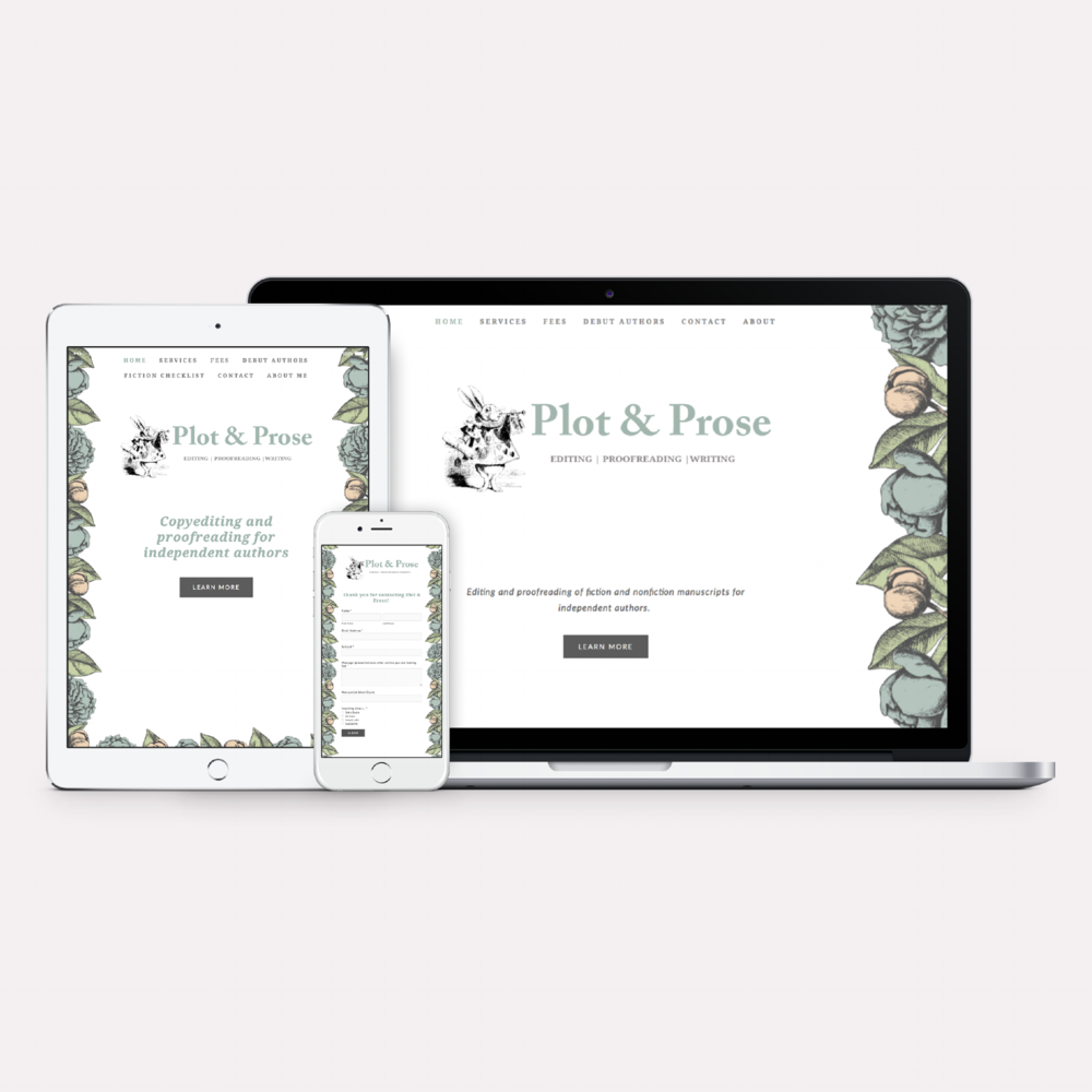 Plot & Prose · Brand + Web Design
