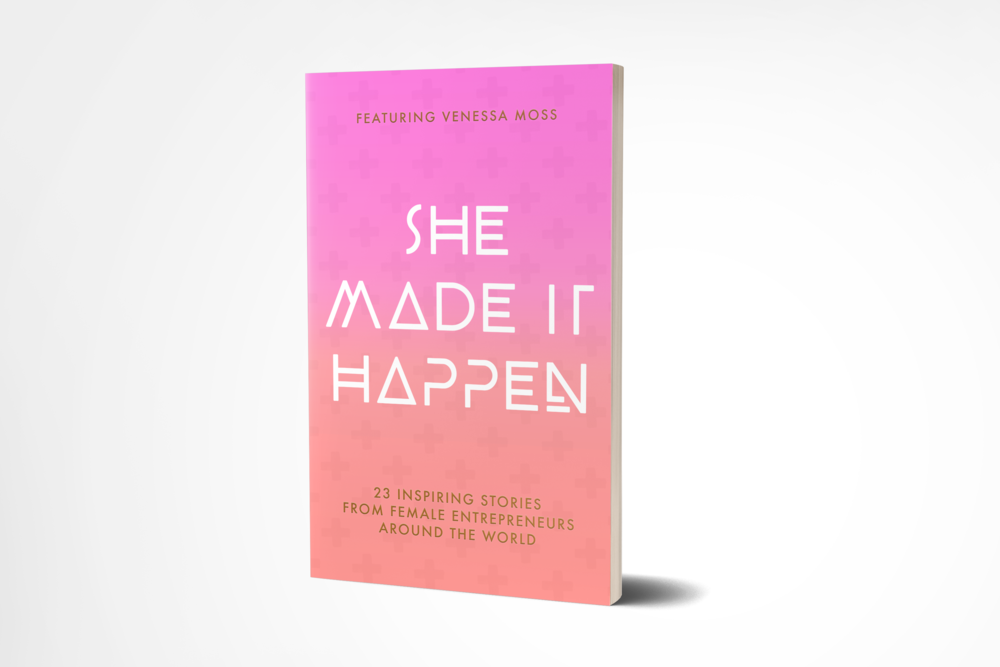 She Made It Happen · Book Cover Design