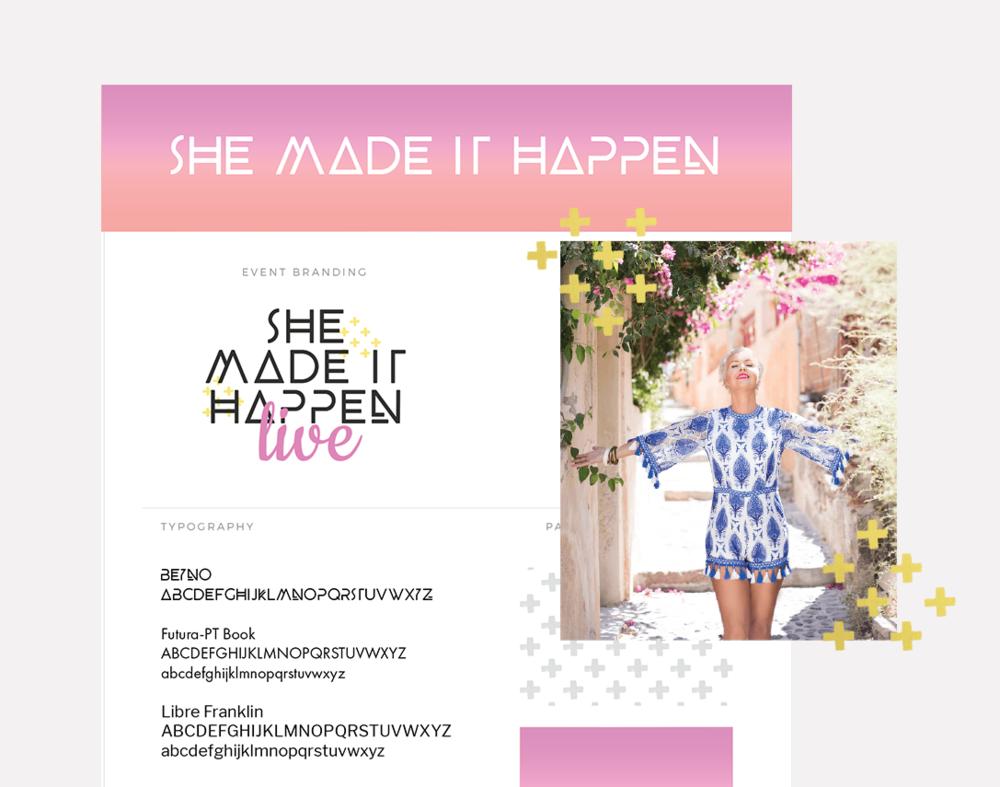 She Made It Happen  · Book, Brand + Site Design