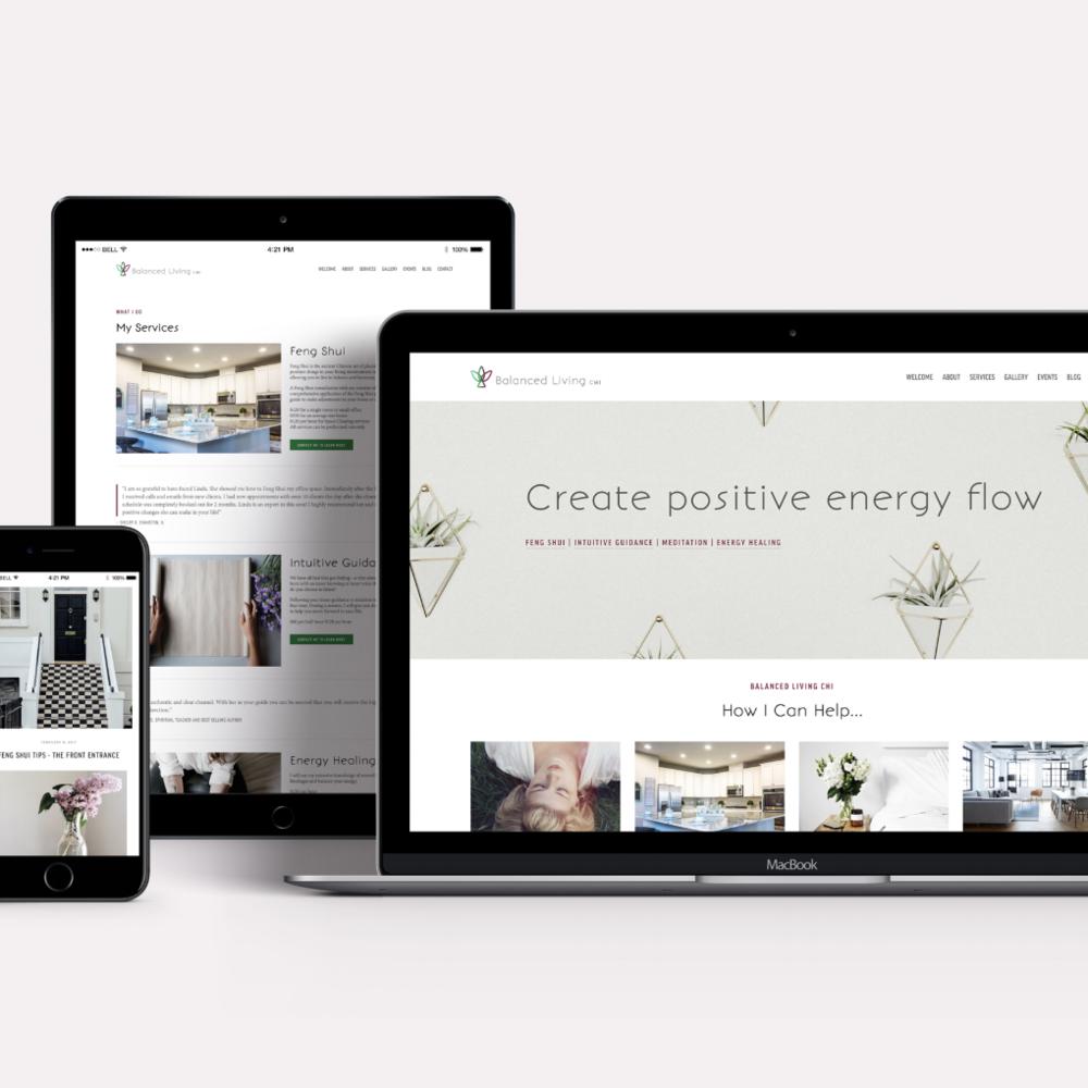 Balanced Living CHI  ·  Website Design