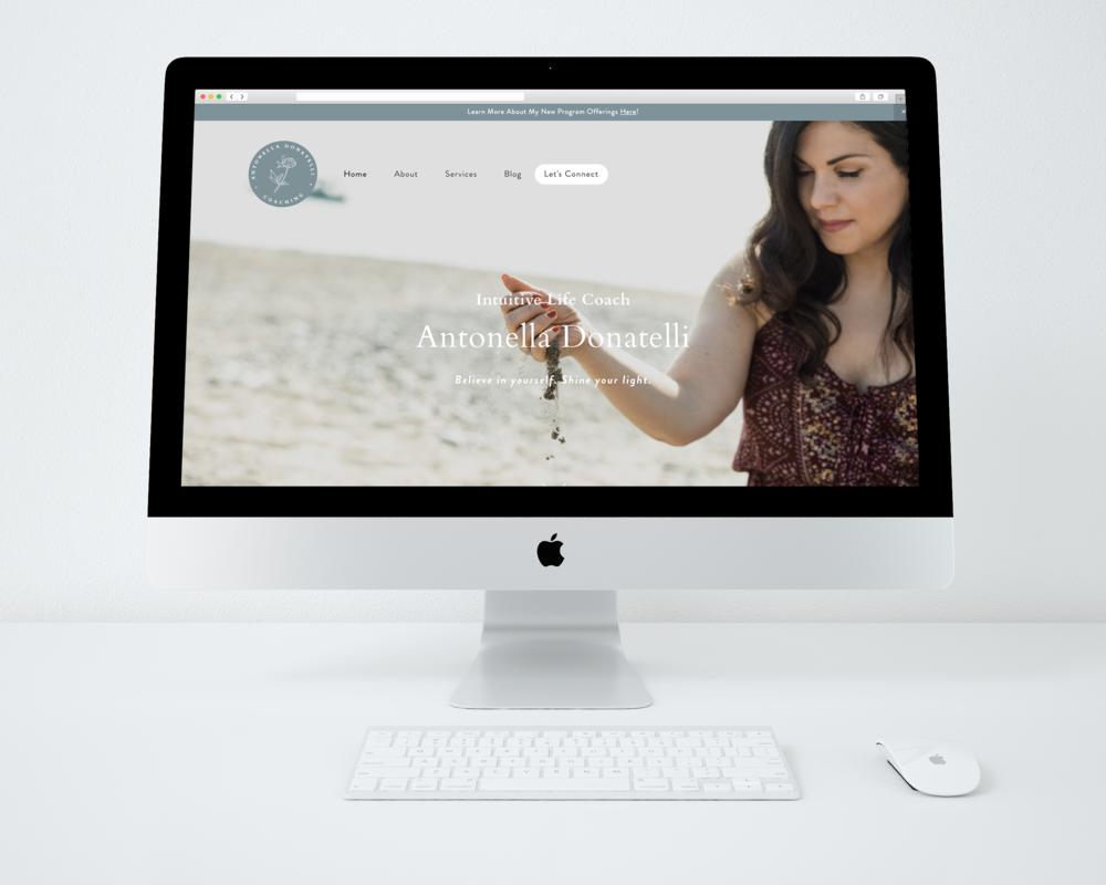 Antonella Donatelli Coaching · Brand + Web Design