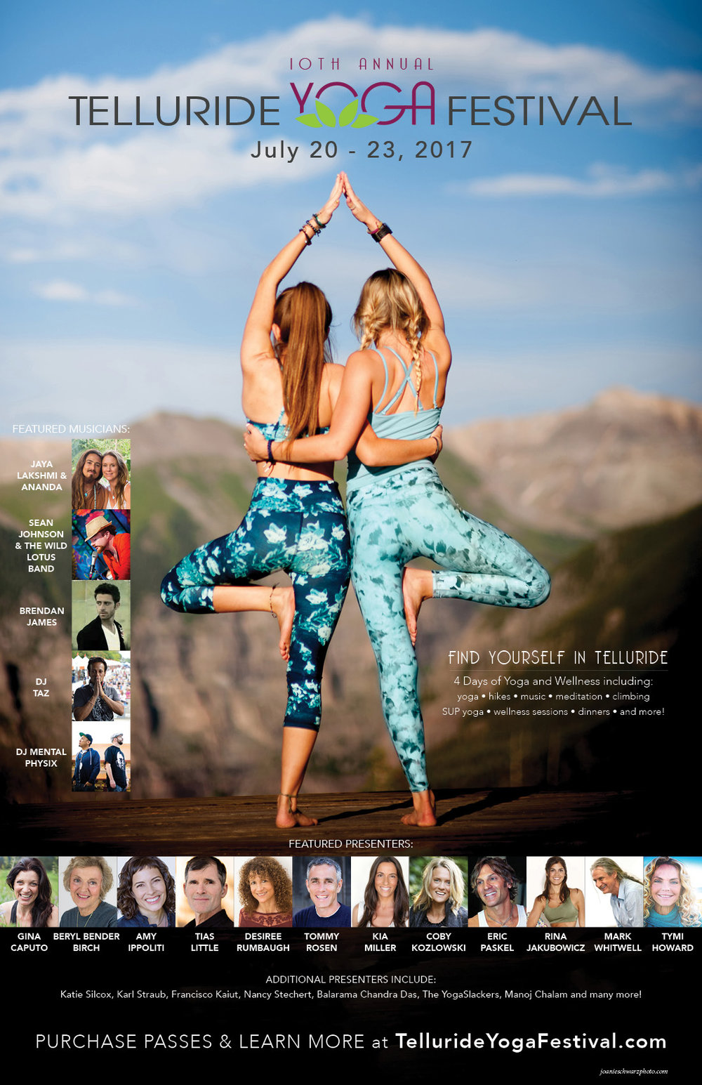 2016 Telluride Yoga Festival Poster Lineup