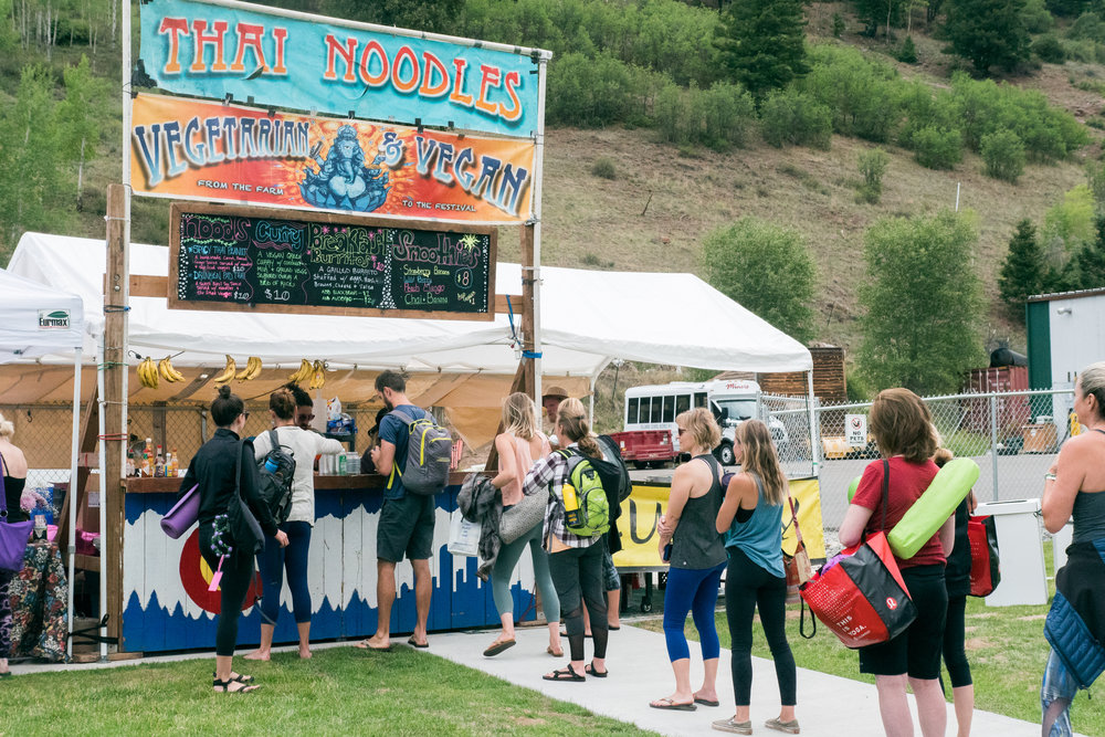 Food Vendors at the Telluride Yoga Fest