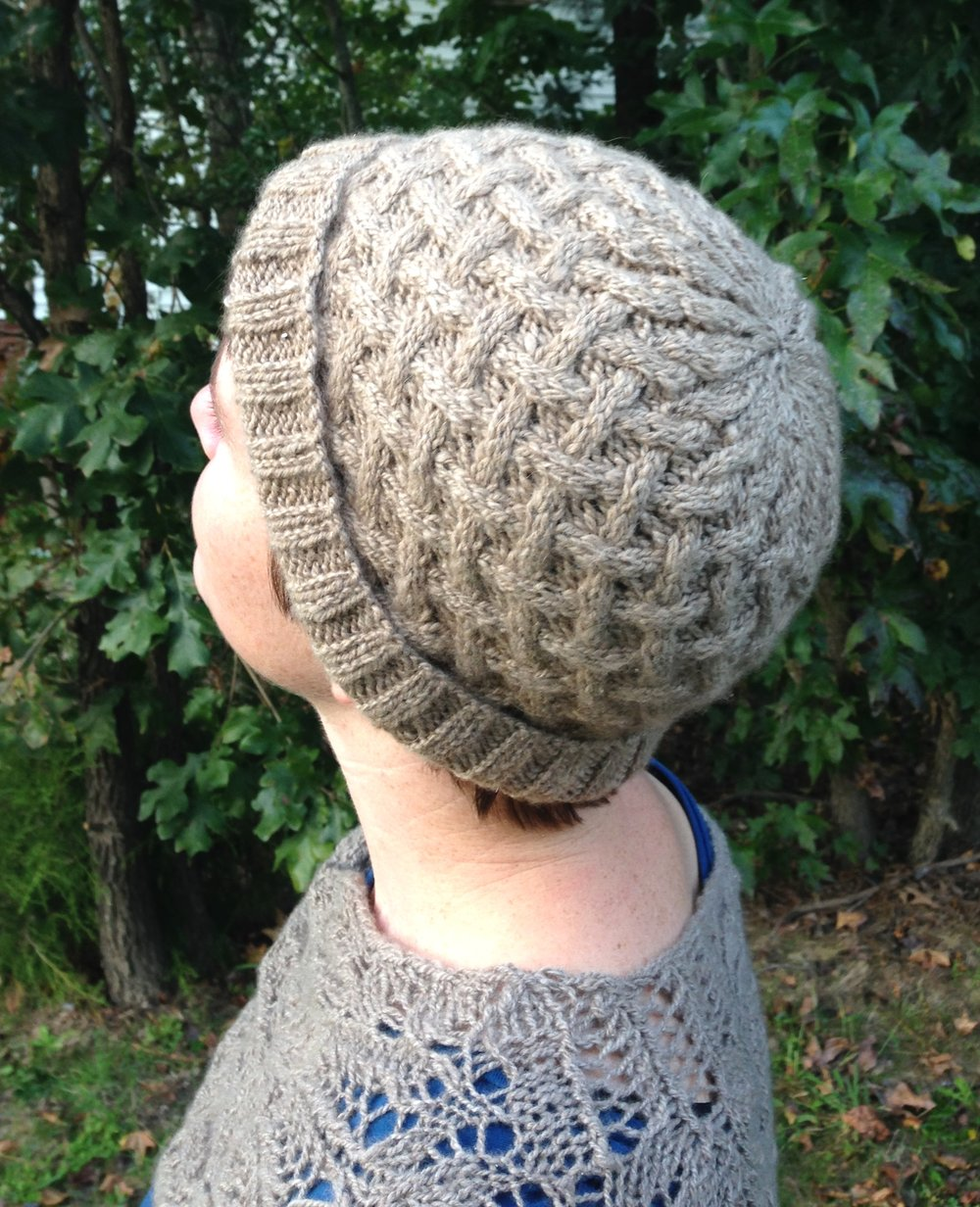 cushy cables cashmere cap by mary ann gebhardt